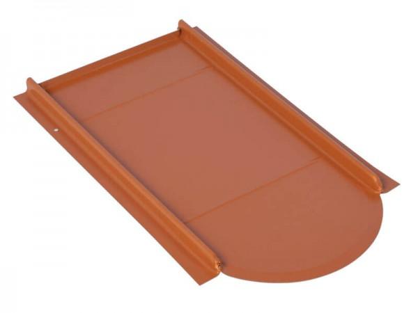 Marzari, kovová střešní deska, typ Vario pro bobrovky, červená