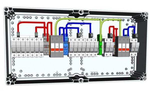 HISbox DC Combiner 2MPPT, 3 stringy, 15 A