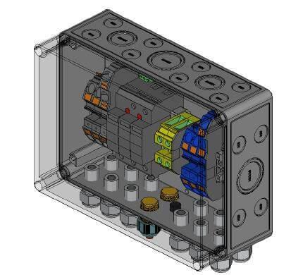 Phoenix Contact přepěťová ochrana DC typ I+II, 1 MPP, svorky, 3x IN/OUT