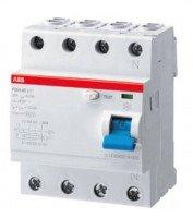 ABB proudový chránič 40A, 4pólový, 30mA, typ A