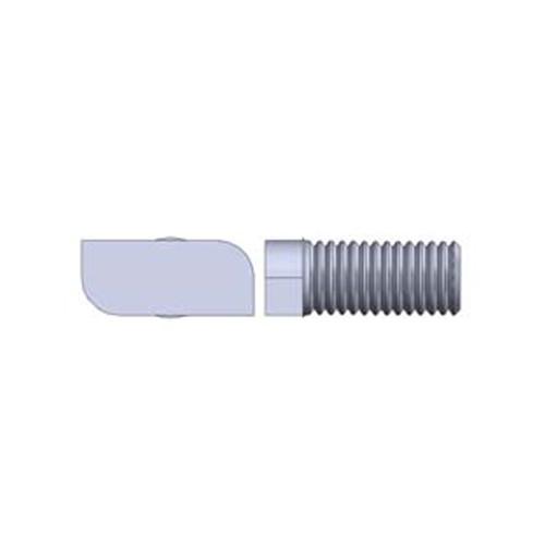 Alumero šroub s kladívkovou hlavou V2A M8x30 s maticí s ozubenou přírubou