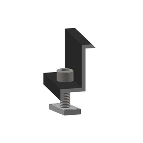 Koncová svorka Alumero 50 černá, předmontovaná